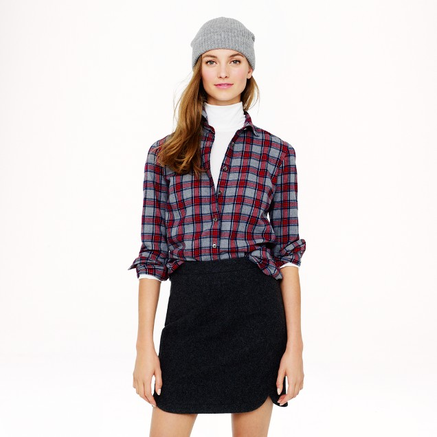 Boy shirt in grey tartan