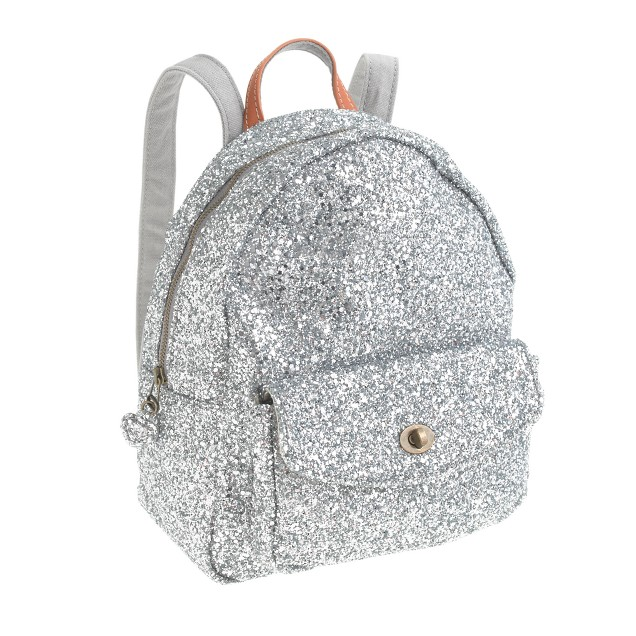 Girls' mini glitter backpack