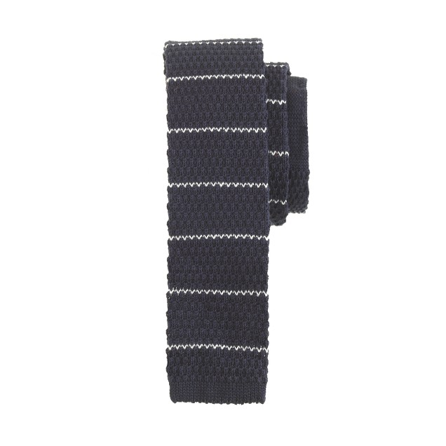 Boys' knit tie in thin stripe