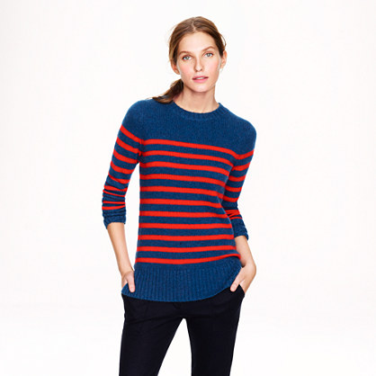 Collection cashmere heathered stripe tunic