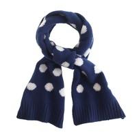 Girls' polka-dot cashmere scarf