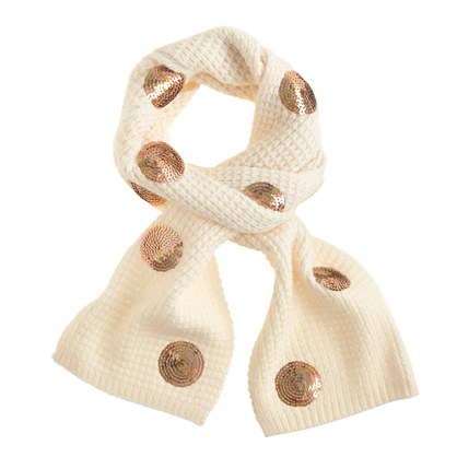Girls' sequin dot scarf