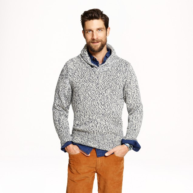 North Sea Clothing victory shawl sweater