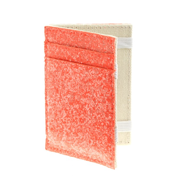 Girls' glitter magic wallet in neon