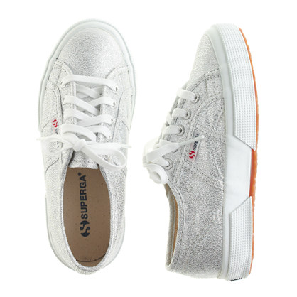 Girls' Superga® lamé sneakers