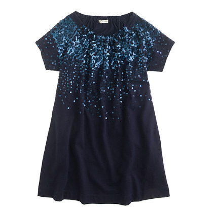 Girls' cascading sequin dress
