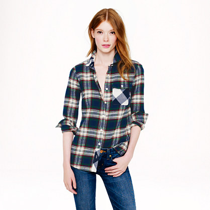 Deep ivy plaid shirt