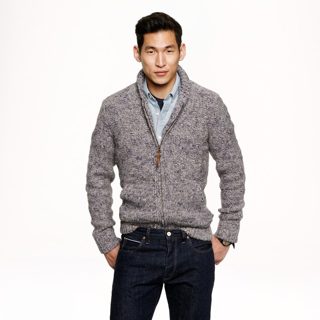 Alpaca full-zip sweater