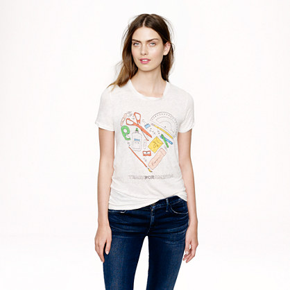 J.Crew for Teach For America linen T-shirt