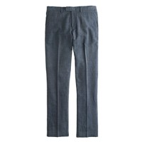Bowery slim pant in crosshatch cotton-linen