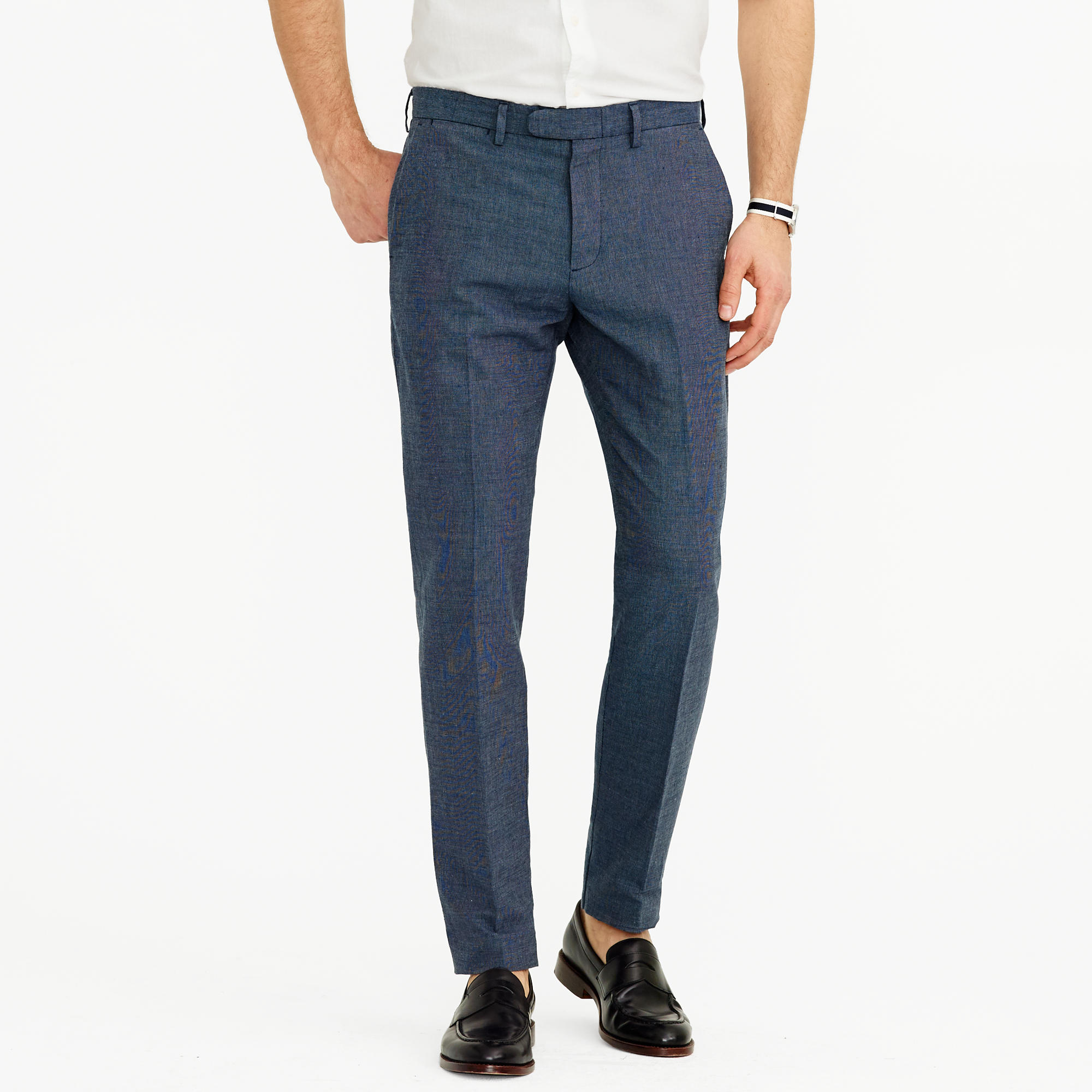 Bowery slim pant in crosshatch cotton-linen : | J.Crew