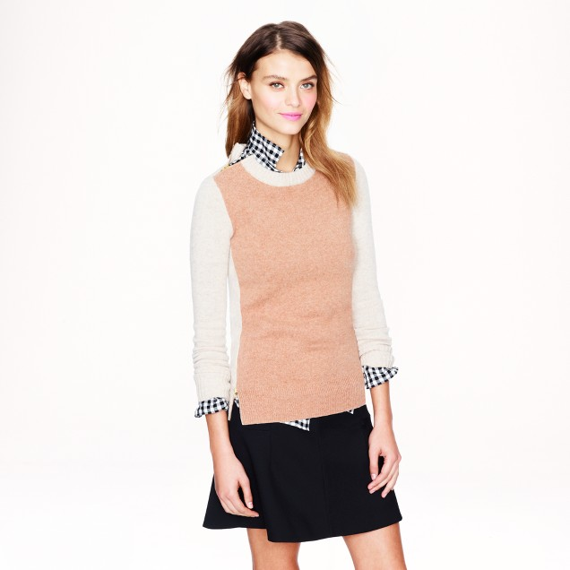 Double-zip sweater in colorblock