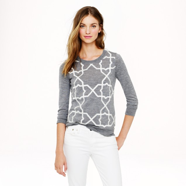 Merino Tippi sweater with tile embroidery