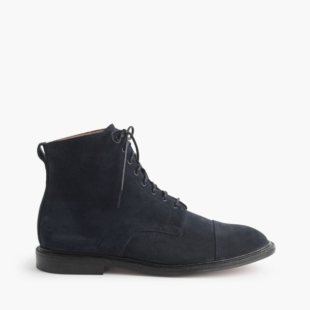 Alfred Sargent™ navy suede cap toe boots