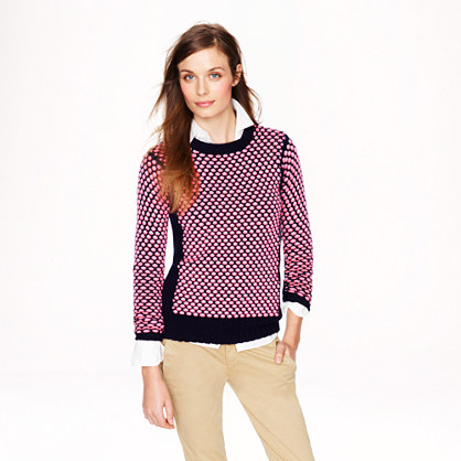 Collection cashmere popcorn sweater