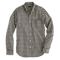 Tall Secret Wash shirt in ivory mini buffalo check