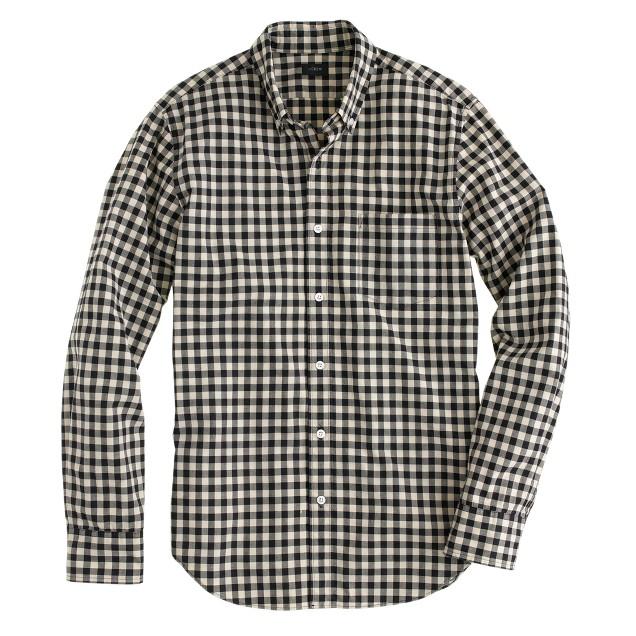 Secret Wash shirt in ivory mini buffalo check