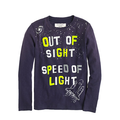 Boys' long-sleeve glow-in-the-dark out of sight tee