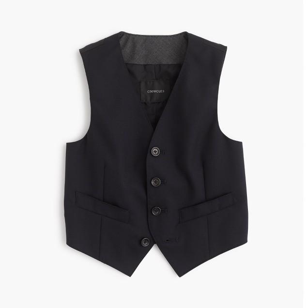 Boys' Ludlow suit vest in Italian wool