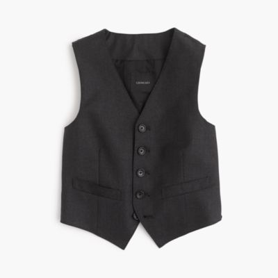 Boys' Ludlow suit vest in Italian wool