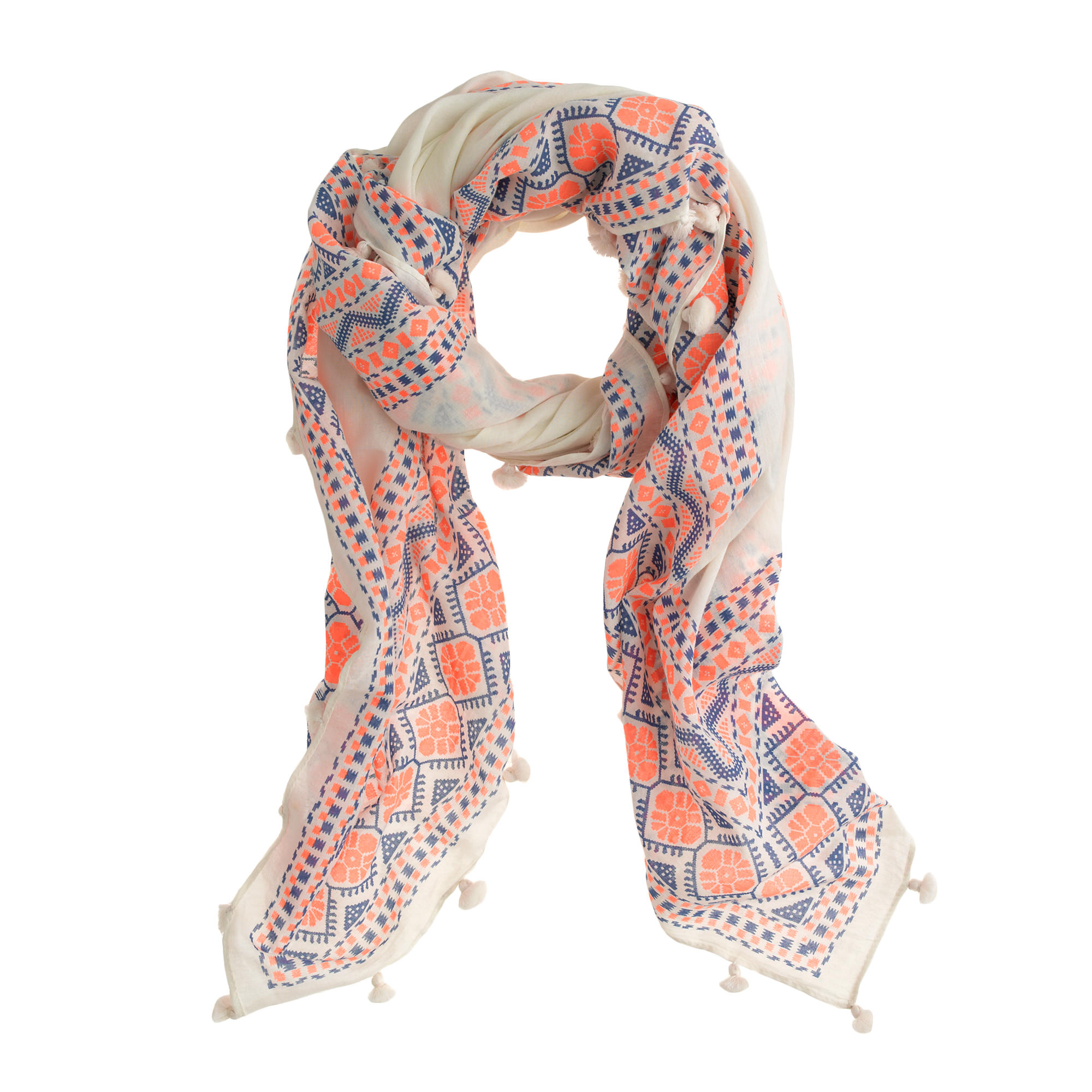 floral diamonds scarf j crew