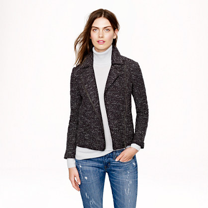 Bouclé motorcycle jacket