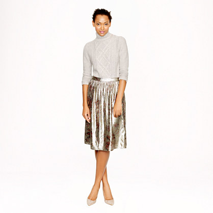Collection gilded paisley skirt
