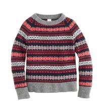 Boys' lambswool Fair Isle sweater in red
