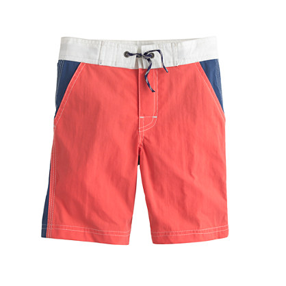 Boys' contrast-front board short