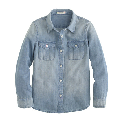 Find an extensive selection of casually chic chambray shirts at Gap. Chambray Tops for Men and Women. The chambray shirt is an enduring staple of the modern wardrobe, and you can add a variety of new tops to your everyday rotation with the selection of styles now available at Gap.