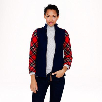 Colorblock Shetland wool jacket