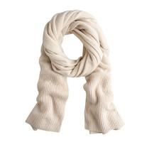 Chunky cashmere scarf