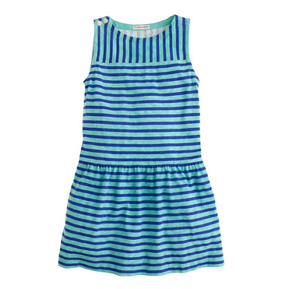 Girls' mixed-stripe dress