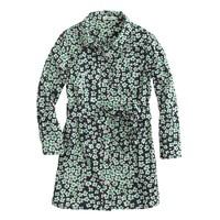 Girls' winter floral shirtdress