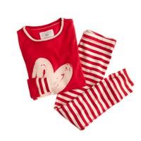Girls' heart and stripe sleep set