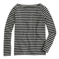 Long-sleeve sailor-stripe T-shirt
