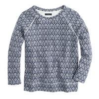 Jacquard floral sweatshirt