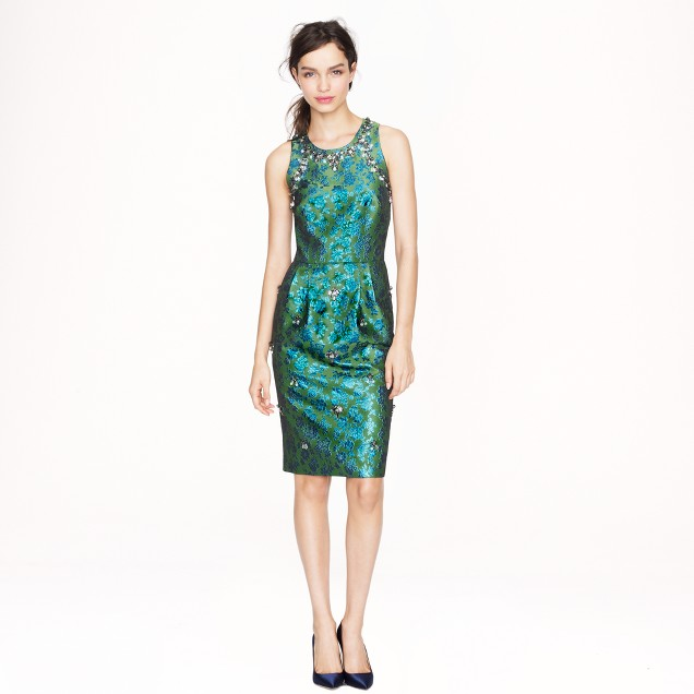 Collection jeweled jacquard dress