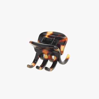 Modern hair clip in Italian tortoise