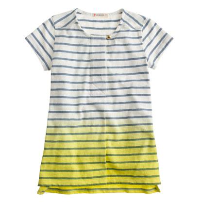 Girls' stripe dip-dye tunic