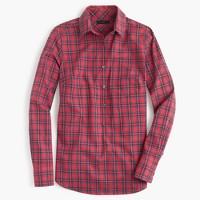 Red tartan popover shirt