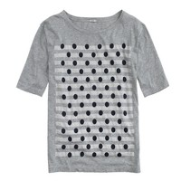 Dots over stripes tee