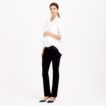 Stretch maternity matchstick jean in pitch black wash