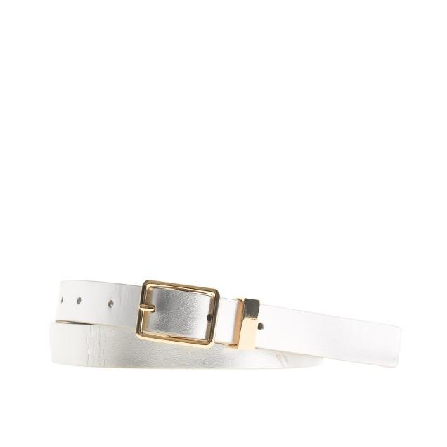 Patent leather belt