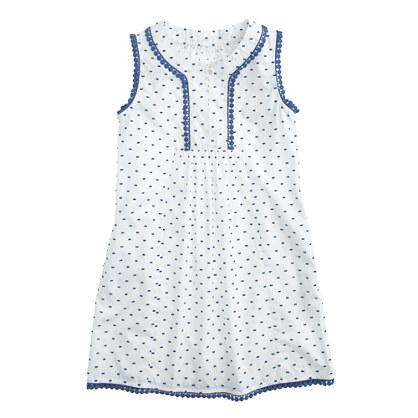 Girls' dress in textured dot