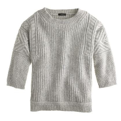 Textured-stitch sweater