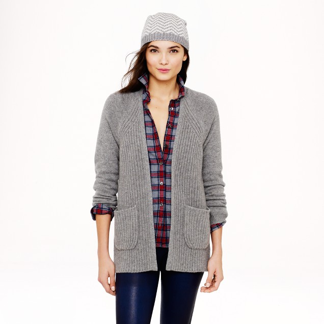 Collection cashmere long open cardigan