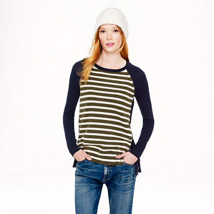 Side-button sweater in stripe