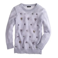 Jeweled-cluster sweater in lavender