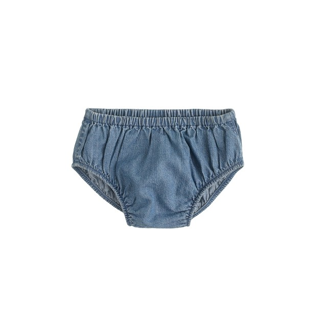 Baby bloomers in chambray